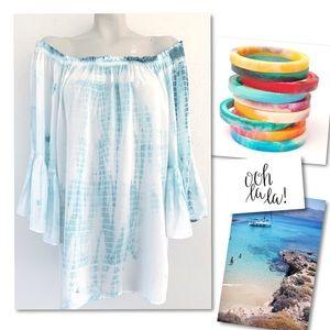 Nordstrom Dresses - Elan off shoulder boho beach mini island dress M